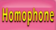 Homophone Words