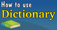 How to use Dictionary Video