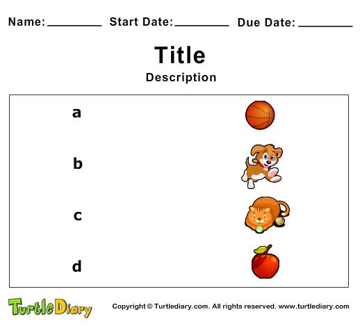 Matching Quiz Maker - Turtle Diary