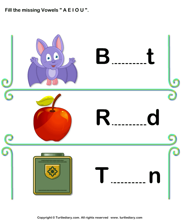 Short Vowels Worksheet11