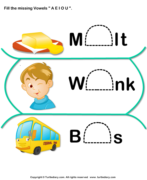 Short Vowels Worksheet17