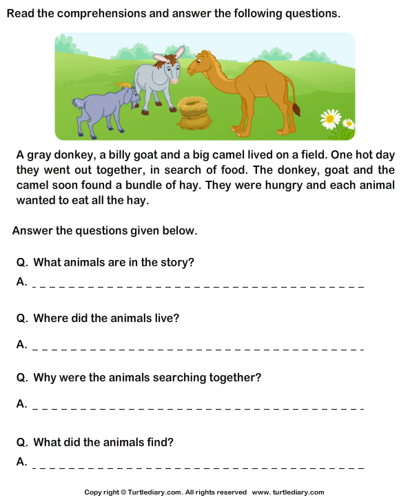 Printables Comprehension Grade 2 Free year 1 comprehension worksheets free scalien scalien