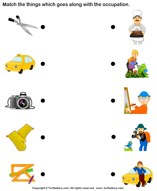 Teaching in Turkey – Community Helpers Worksheet Kindergarten