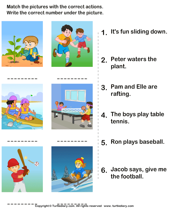 Action Verbs Worksheets 14