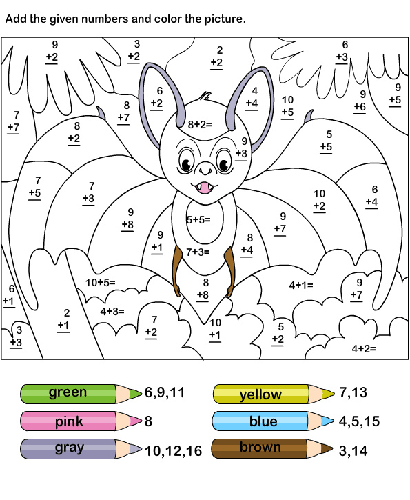 Color By Addition Worksheets – Color by Addition Worksheets Free