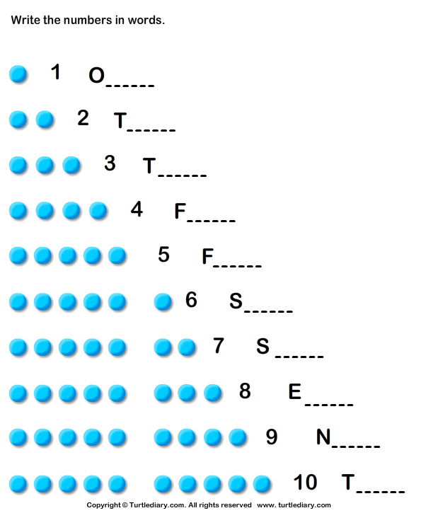 Fun to Learn Numbers Worksheet 2