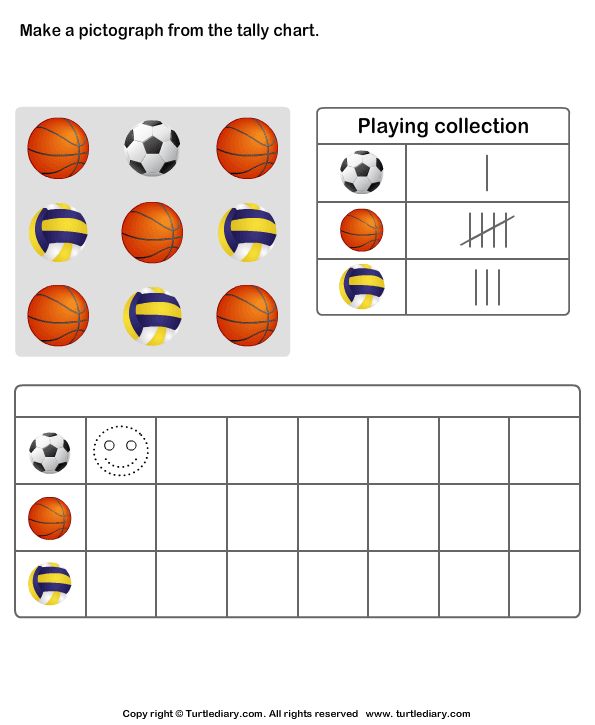 first grade tally chart worksheets