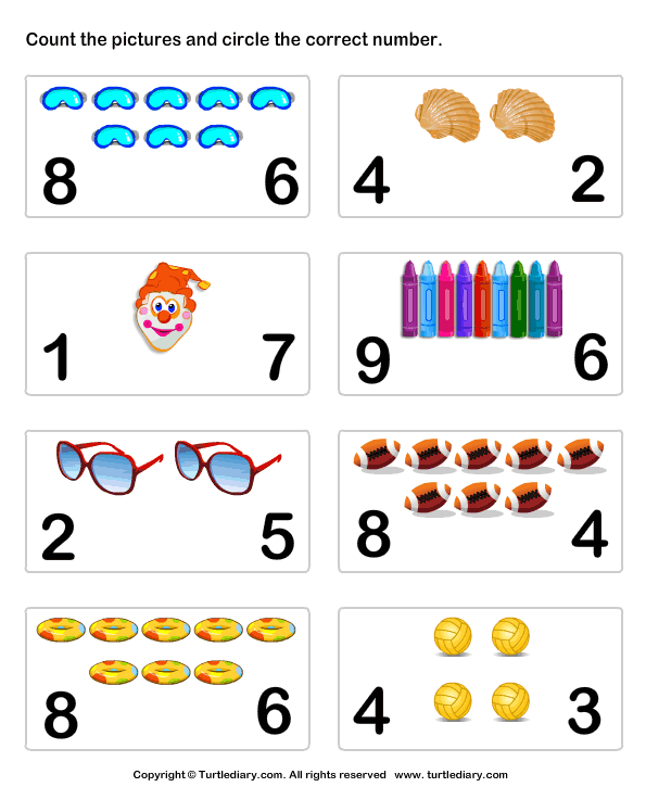 Learn Numbers Worksheet6