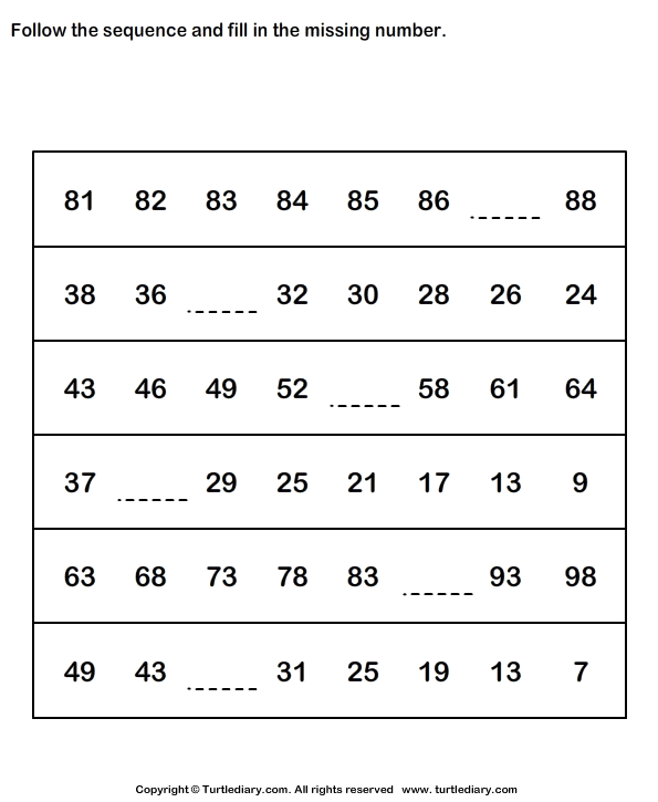 Number Sequences Worksheets For Grade 7 - worksheets math and on ...