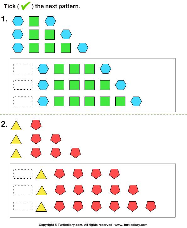 Grade 2 Math Patterns Worksheets patterns worksheets from the – Grade 5 Math Patterns Worksheets