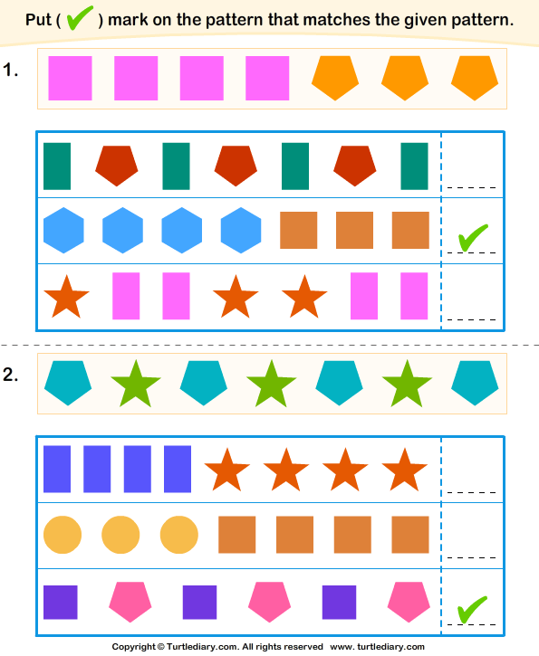 Similar Pattern Answer