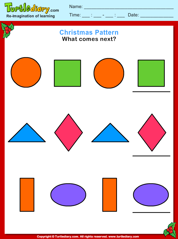 Christmas Patterns Answer