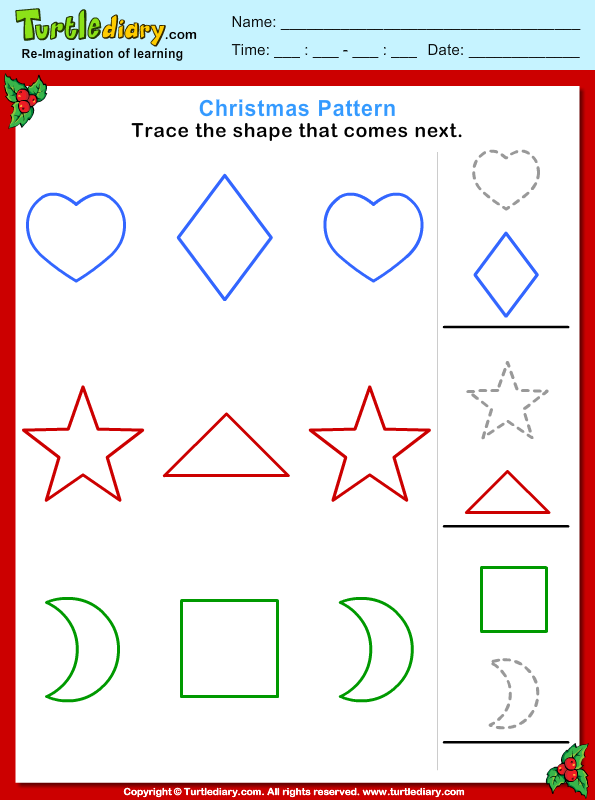Christmas Patterns Answer