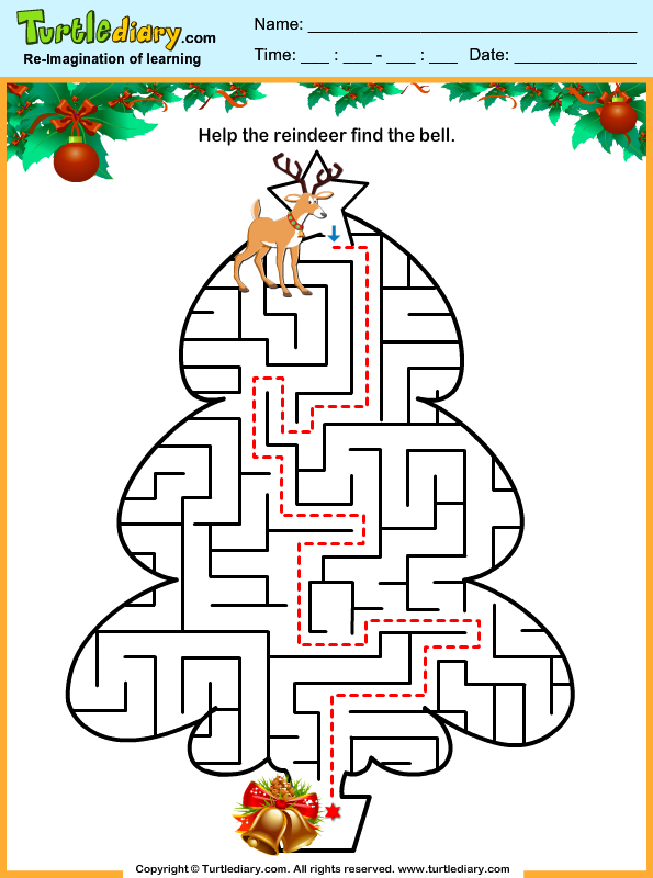 Christmas Maze Answer