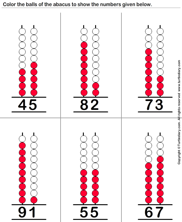 Two-digit Number on Abacus Answer