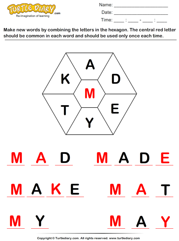 Make Words Answer