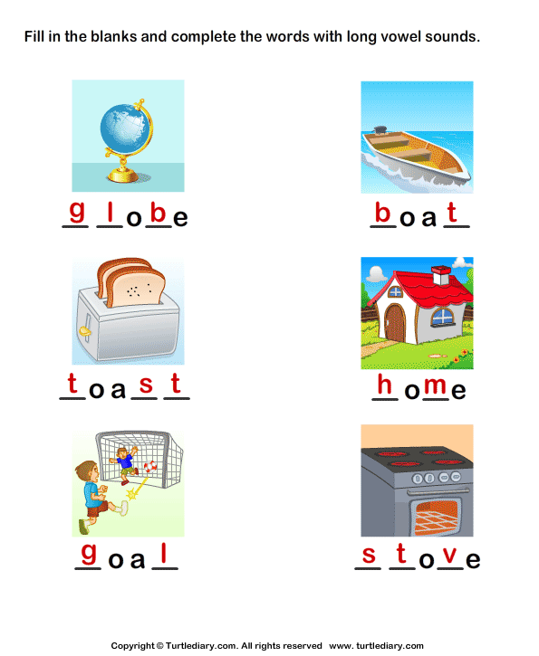 Complete the Words Using Long Vowel Answer