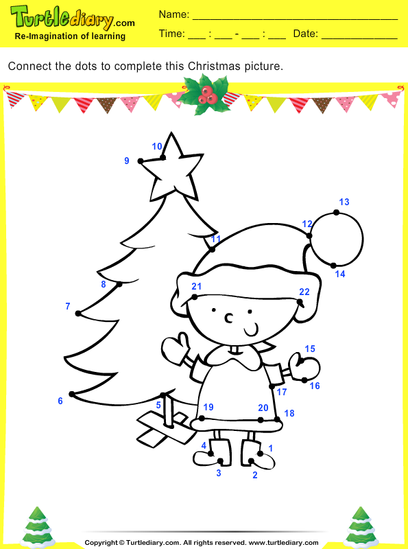 Christmas Connect the Dots by Number Answer