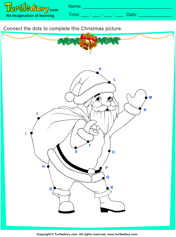 Christmas Connect the Dots by Alphabet Answer