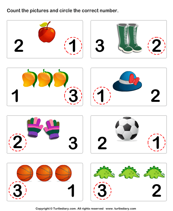Count Pictures Answer
