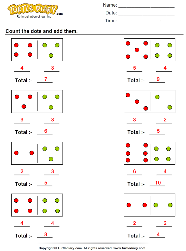 Count and Add Dots Answer