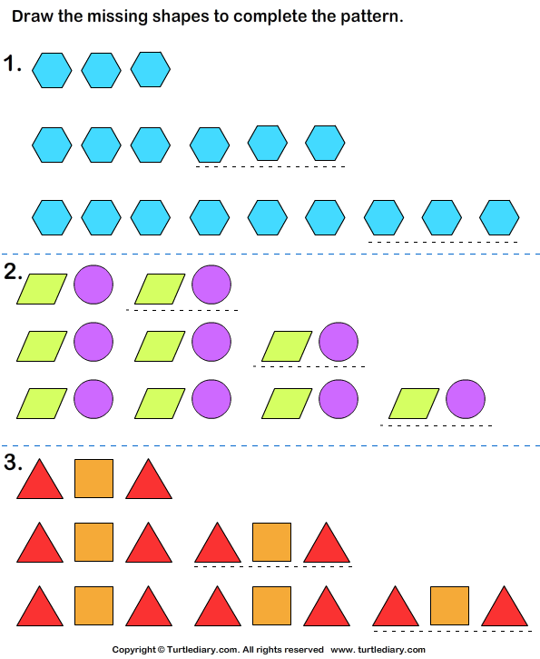 Pattern Worksheets » Growing Pattern Worksheets 3rd Grade ...
