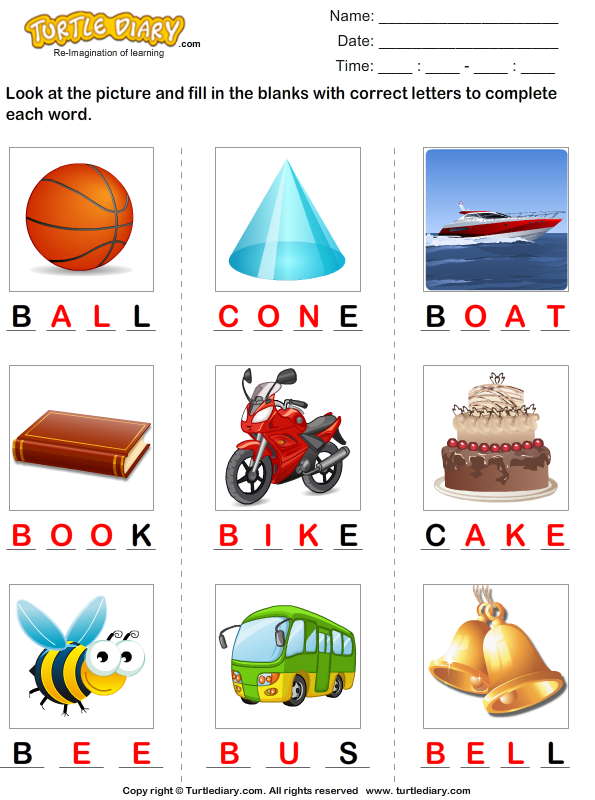 Complete the Words Answer