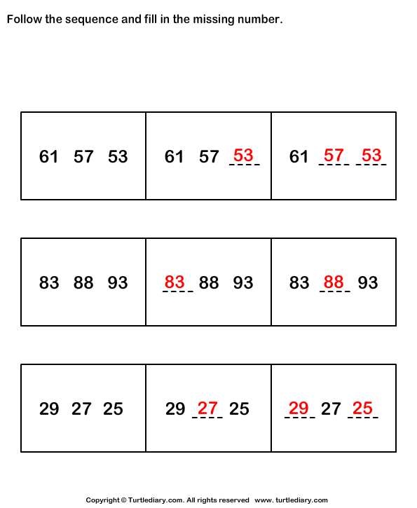Sequence Answer