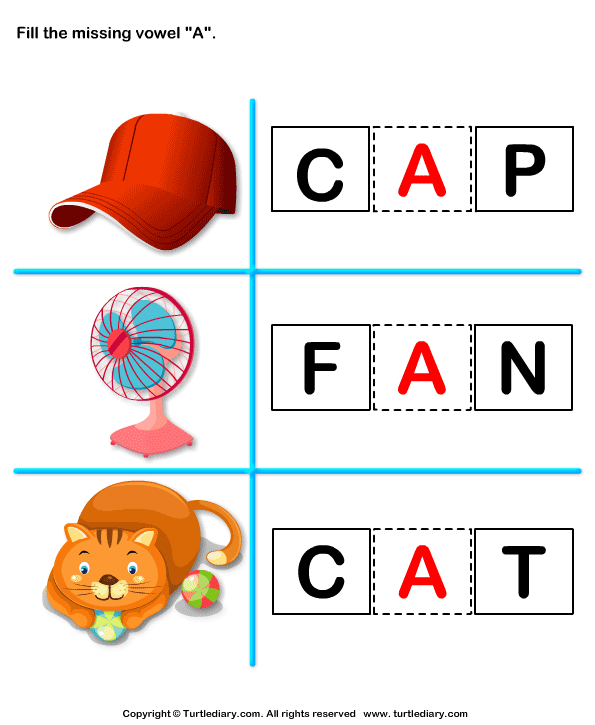 Fill in the Missing Vowel Answer
