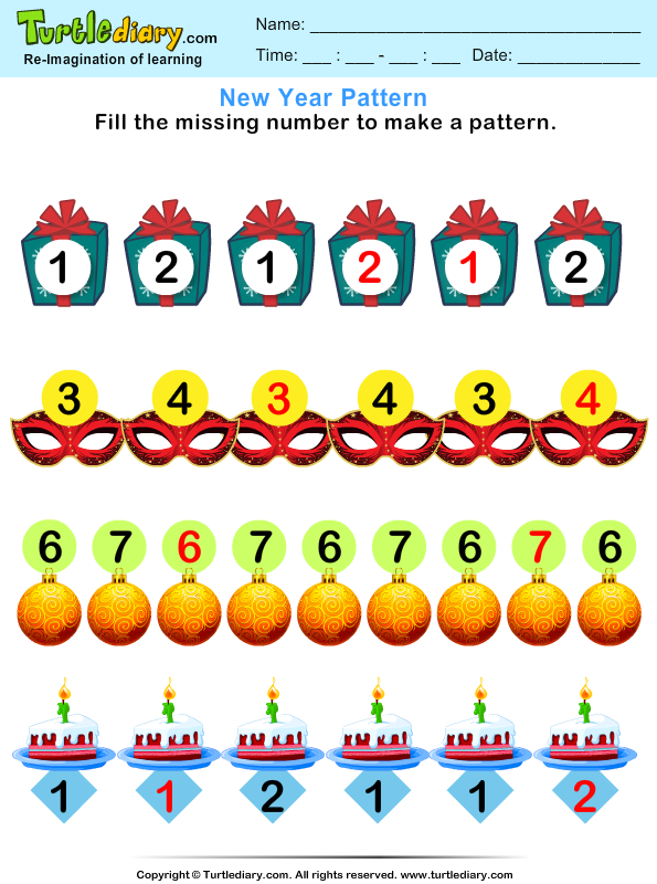 New Year Patterns Answer