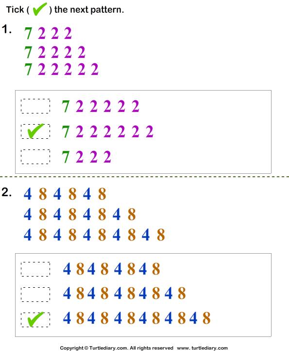 Growing Pattern Answer