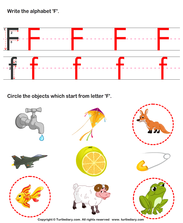lоvеlу 9 letter words starting with f identify words that start with f worksheet turtle diary 69248