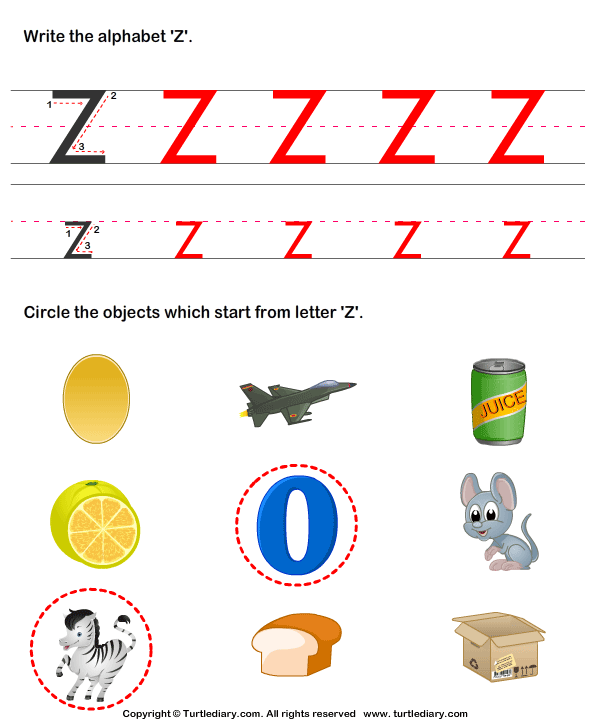 Number Names Worksheets : words with z for kindergarten Words With ...
