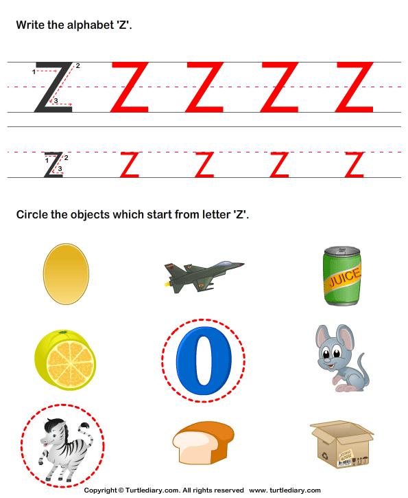 Number Names Worksheets words with z for kindergarten : Letter Z Words For Kindergarten - Coffemix