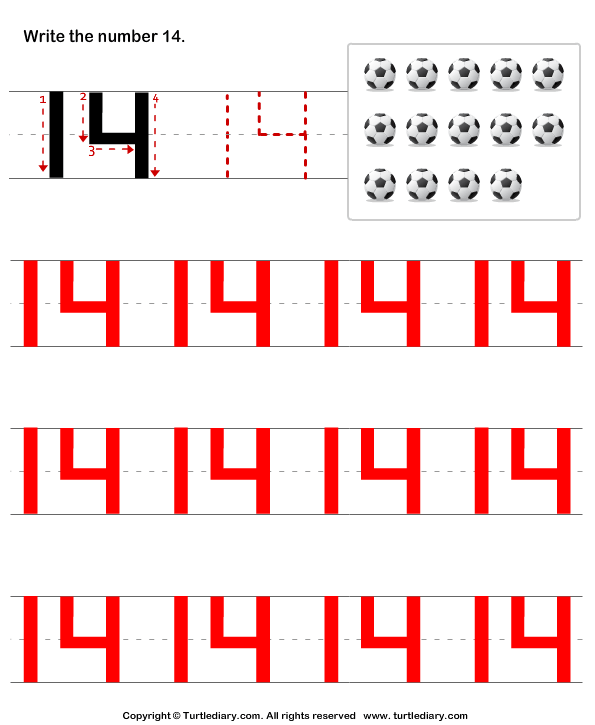 Number Writing Answer