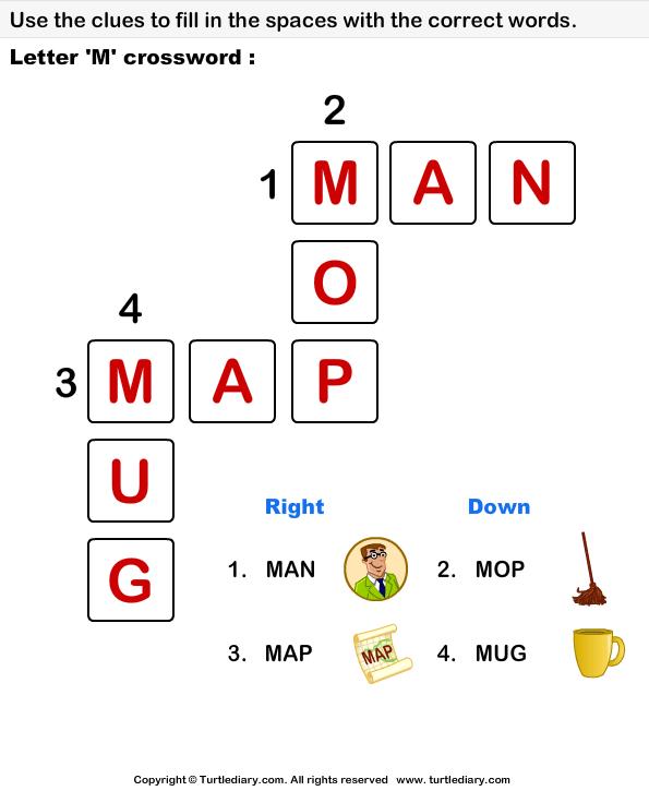 Alphabet Crossword Answer