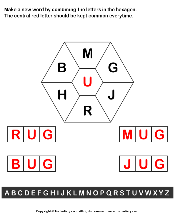 Combine Letters to Make New Words Answer