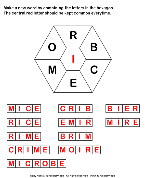 words using letters make words using letters r b c e m o i worksheet turtle 803