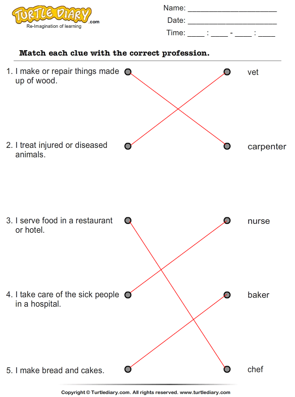 Match the Clues with Correct Profession Answer
