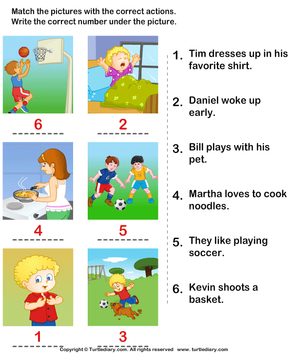 ... Worksheets besides Action To Match The Sentence The Verb Worksheet. on