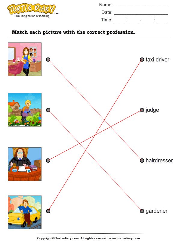 Match Pictures with Correct Profession Answer