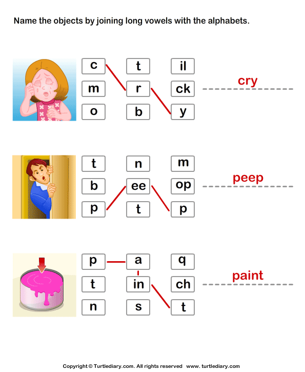 Connect the Long Vowels Answer