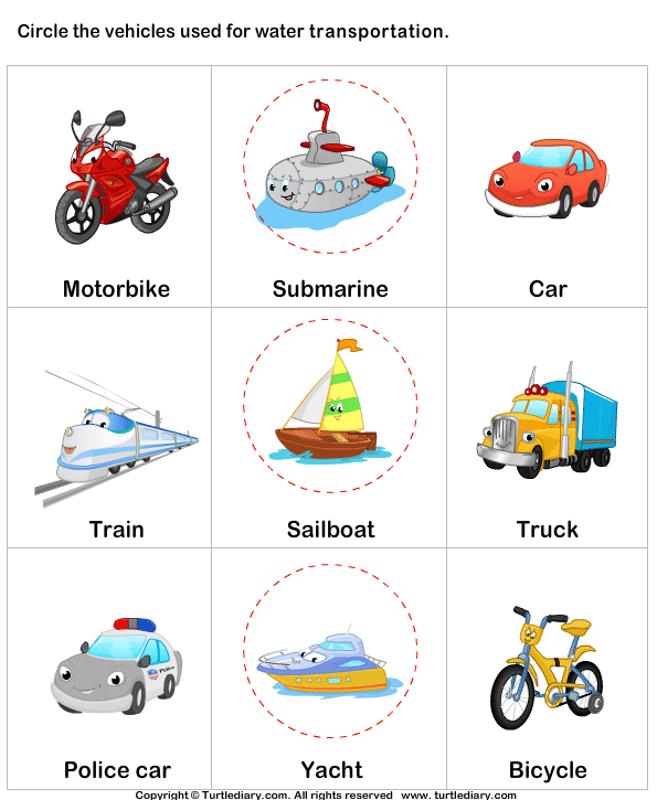 Name Of Water Transport on Kindergarten Progress Report