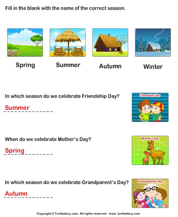 Seasons in an Year Answer