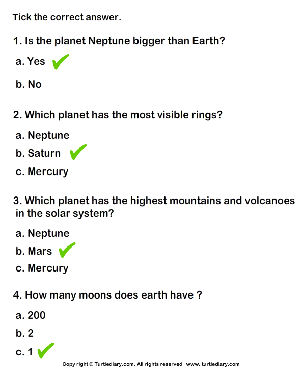 3rd grade science worksheets with answer key