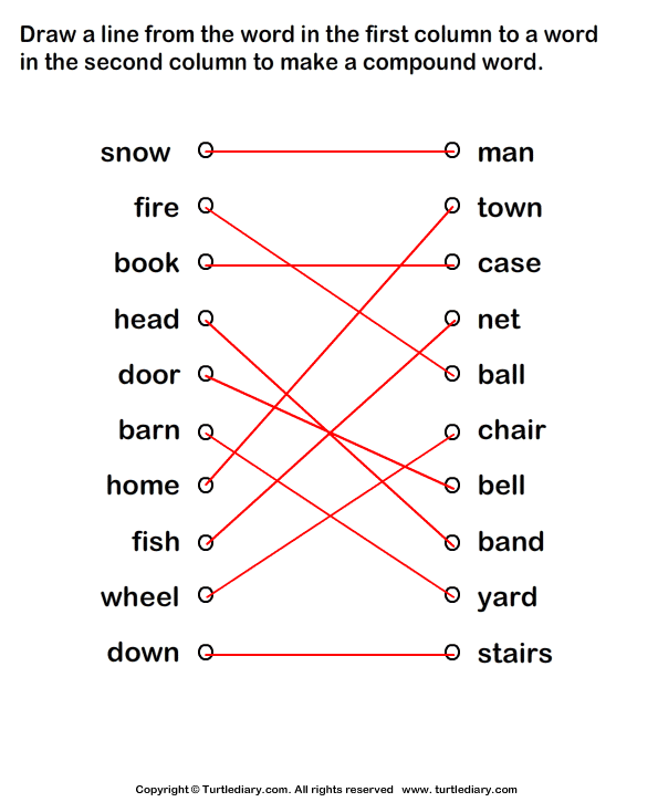 Form Compound Words Answer