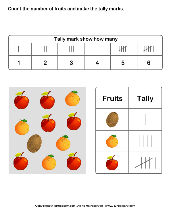 Common Worksheets » Tally Mark Worksheet - Preschool and ...