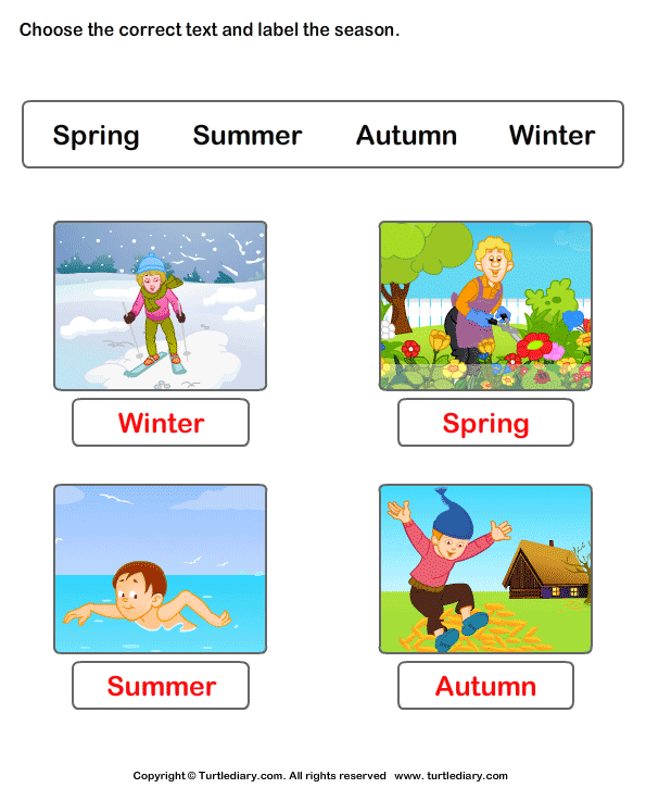 Answer Seasons Of The Year Worksheets on spring weather wear preschool