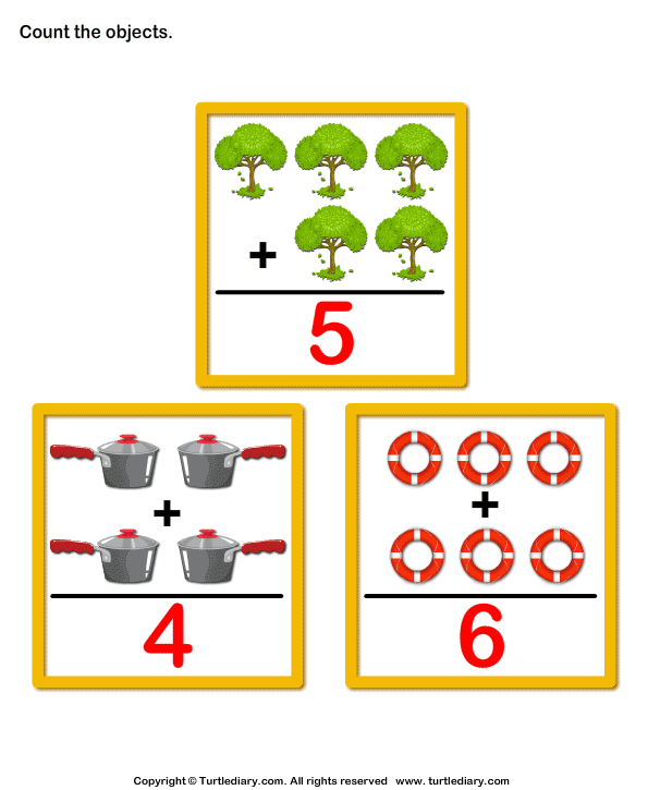 Addition with Objects Answer