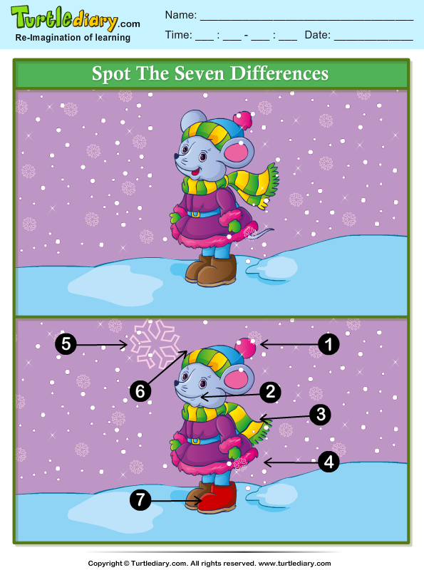 Winter Spot the Difference Answer